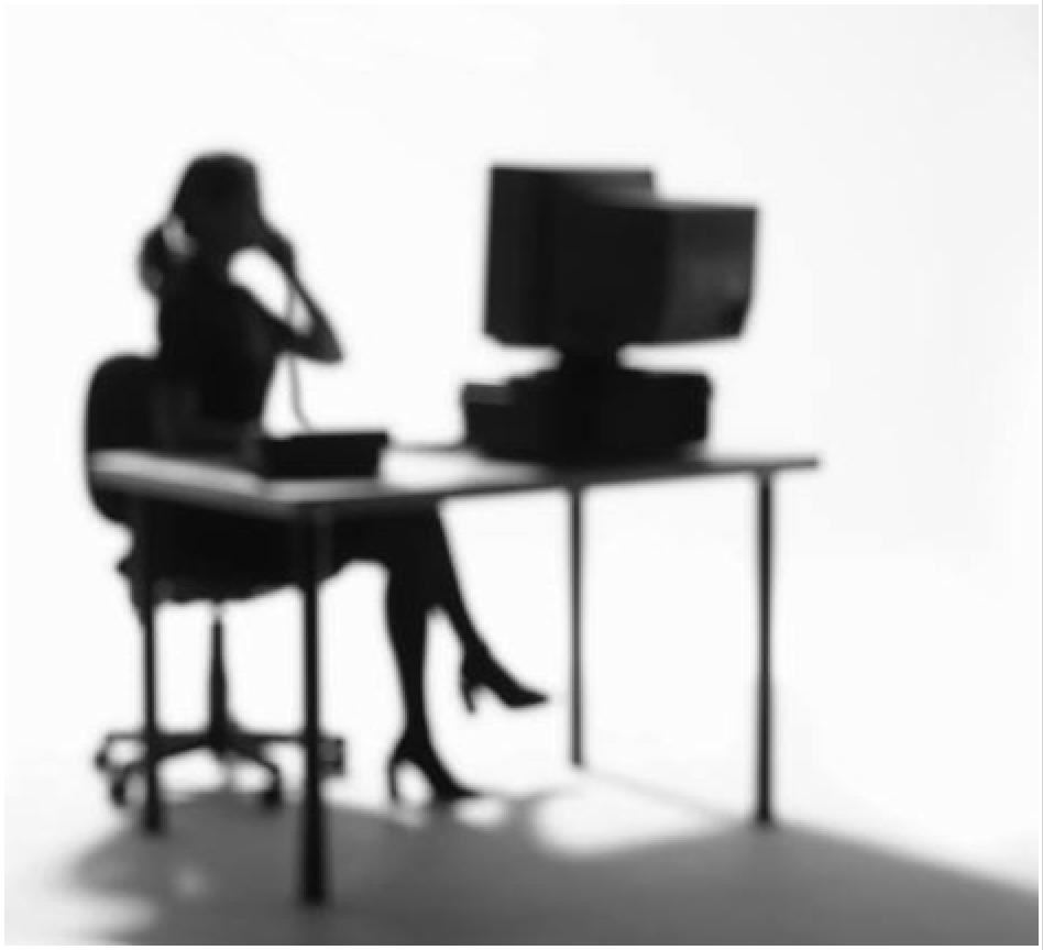 woman on the phone shadow