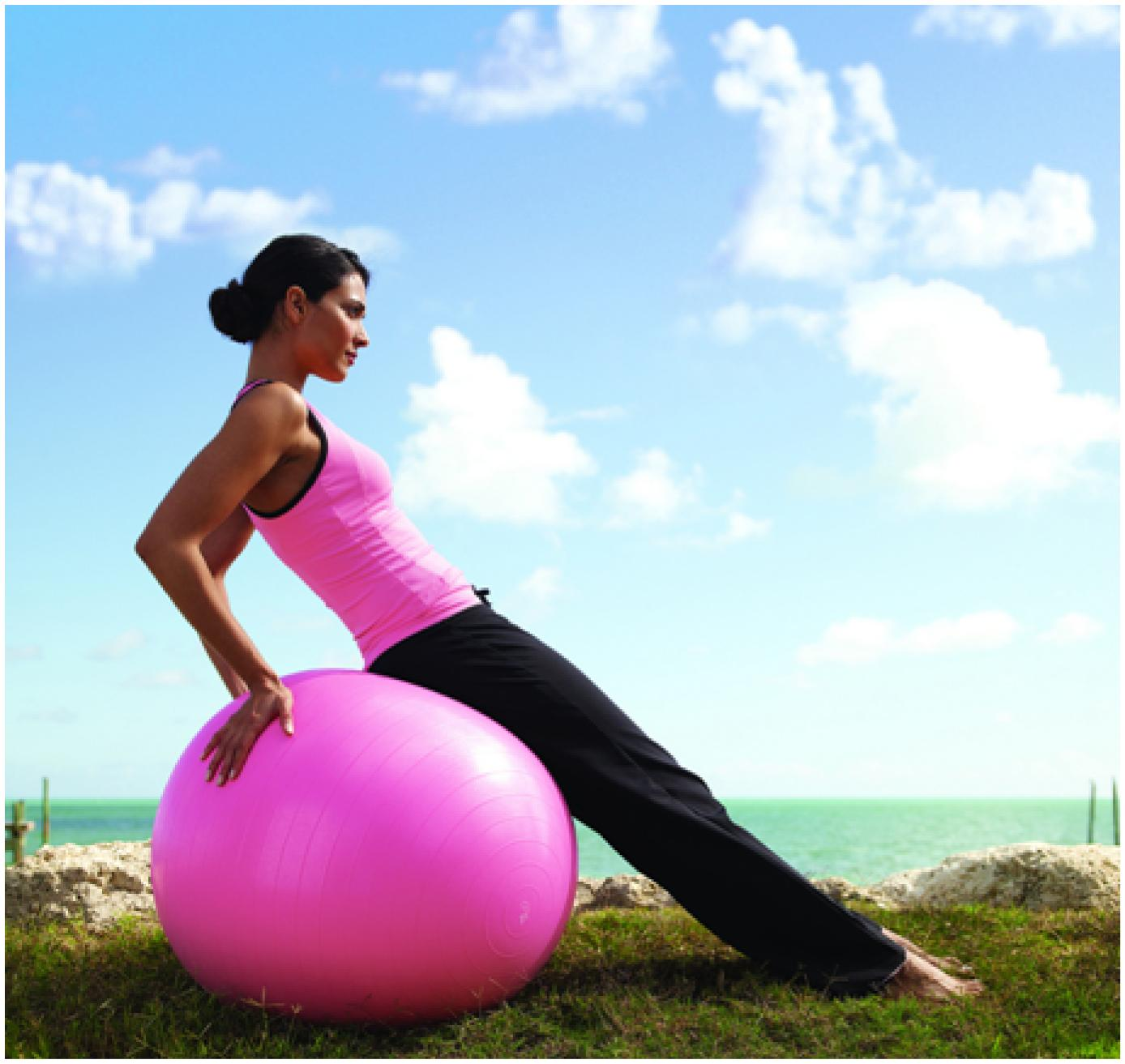 exercising on pink ball