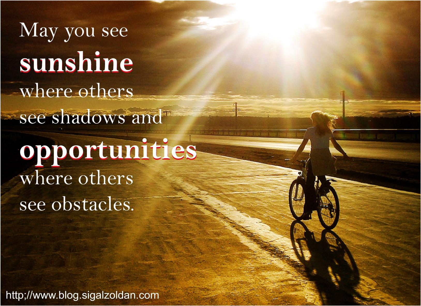 sunshine and opportunities