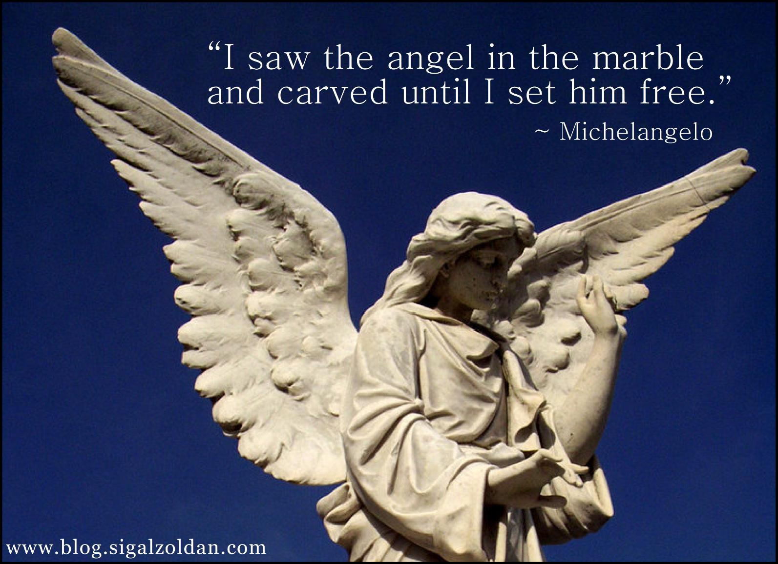 carving the angel