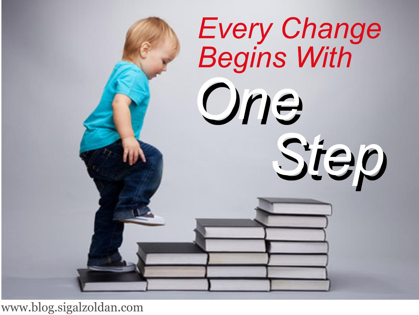 change begins with 1 step