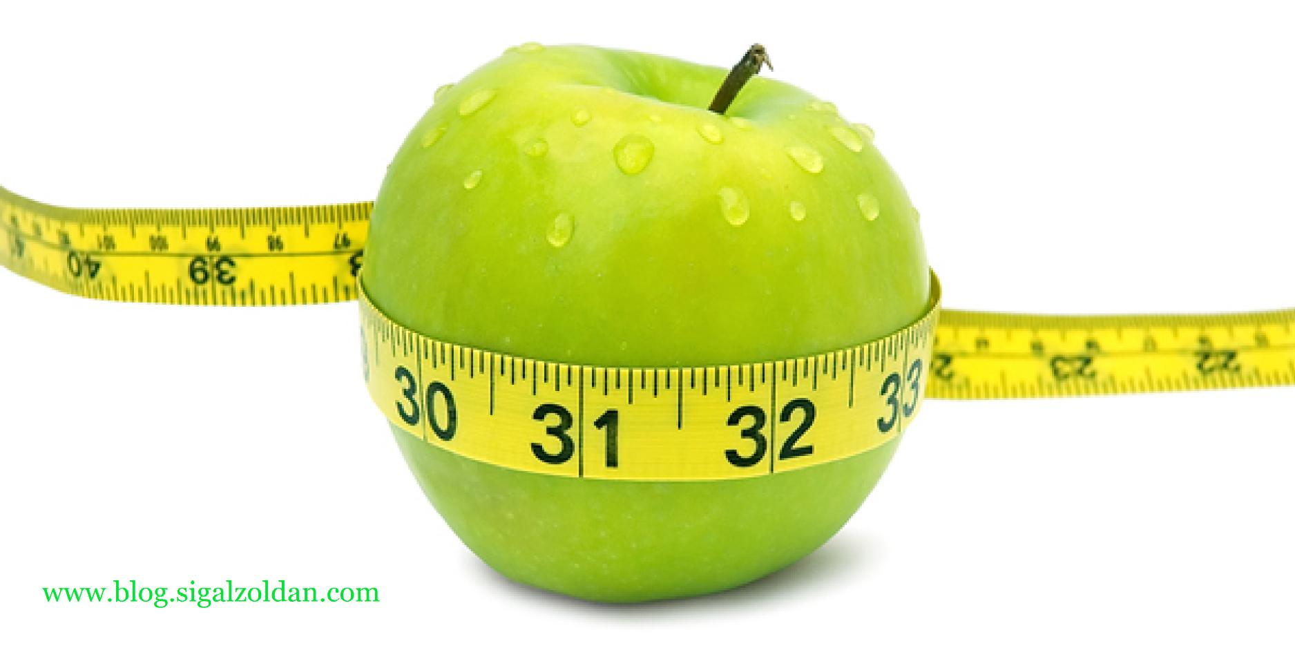 apple in measuring tape